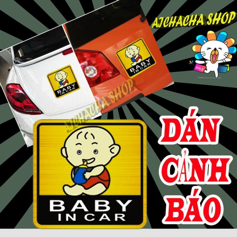 Sticker, decal & miếng trang trí nam châm trên cản xe babay in car mẫu 4 - aichacha shop