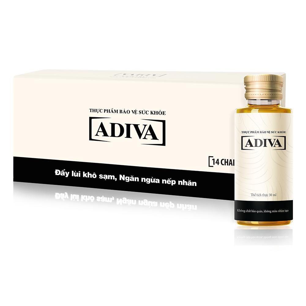 Dưỡng chất uống làm đẹp ADIVA Collagen hộp 14 chai x 30ml