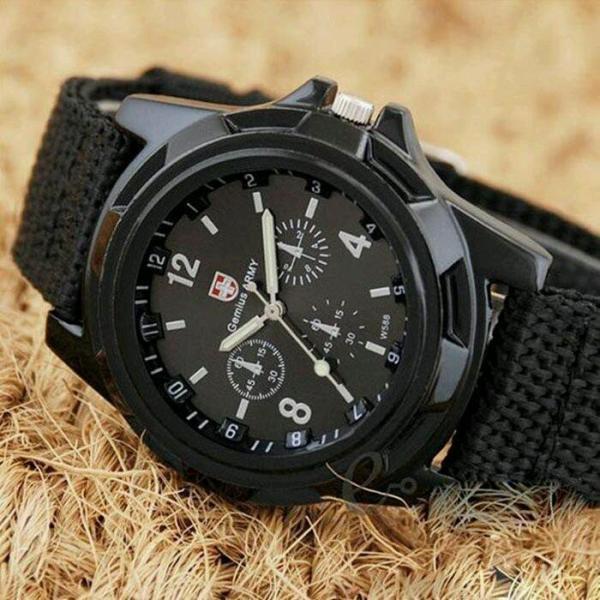 Đồng hồ lính-đồng hồ quân đội, chống nước tốt (đen)