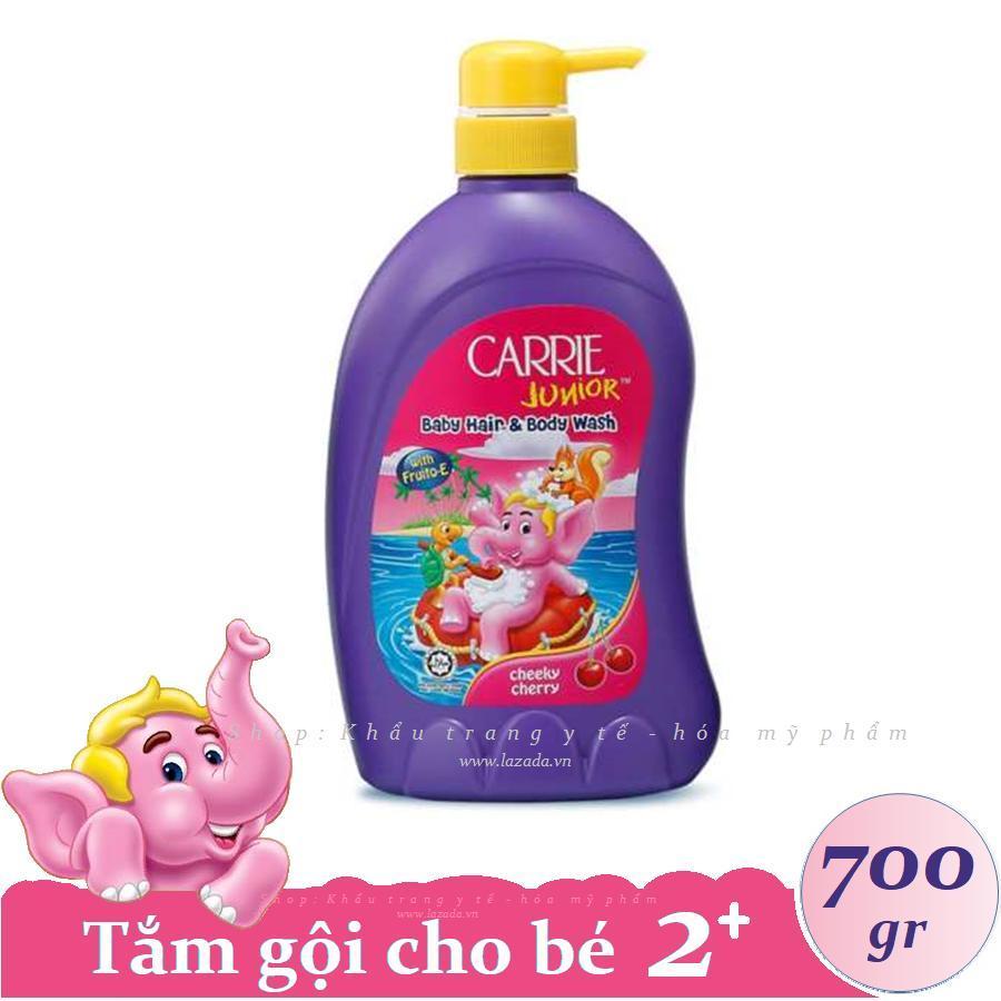 CARRIE JUNIOR - Tắm Gội Toàn Thân Cho Bé Hương Cherry 700 Gr Giảm Cực Hot