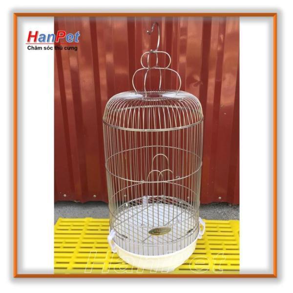 Hanapet-Lồng chim cảnh (đủ size) Chất liệu 100% inox không gỉ sét ( long chim inox) tặng áo lồng và máng ăn/uống c