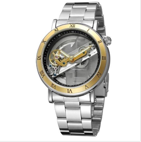 Nơi bán Đồng hồ cơ nam lộ máy Forsining F9005 máy trong suốt Fullbox hãng (M Dây da và kim loại)