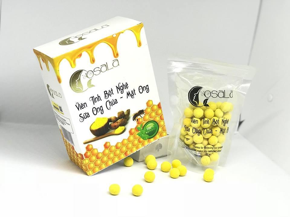 Viên tinh nghệ mật ong chúa Osala nhập khẩu
