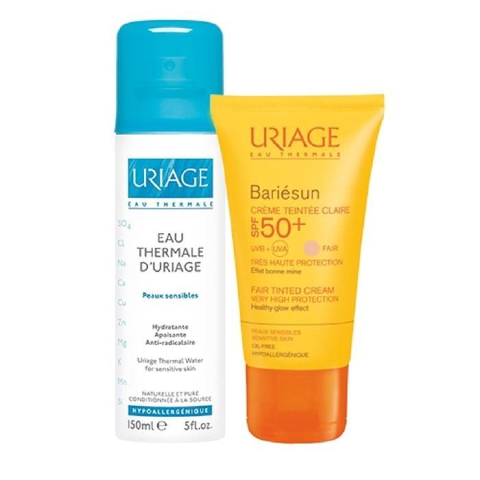 Kem chống nắng Uriage 50+ và xịt khoáng Uriage 50ml