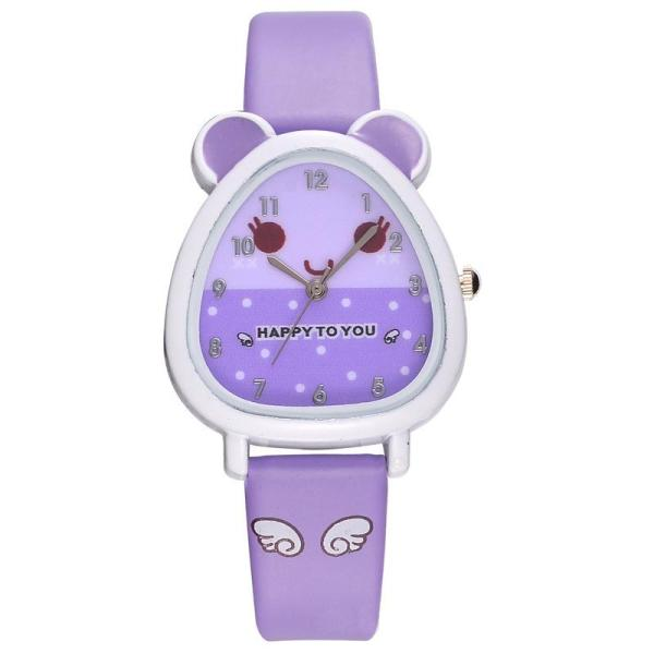Nơi bán B-F Hamster Shaped Dial Quartz Wrist Watch with PU Leather Strap Cute Cartoon Watches