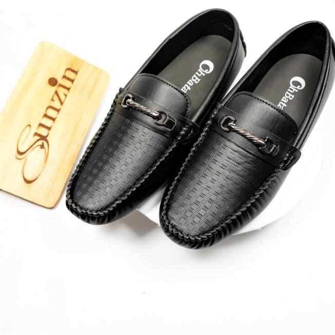 Sunzin.HCM Free từ 99k-Giày da không dây kiểu giày lười VÂN SẦN - Giày nam  VL160Sần - Giày da PU lịch lãm (giay nam / giay luoi / giầy da / gi-SZ10200 giá rẻ