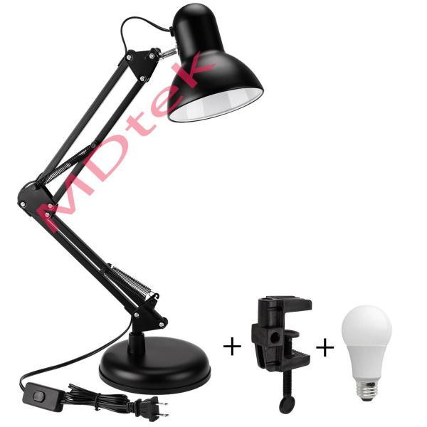 Đèn bàn học tập, làm việc, có chân kẹp bàn Pixar MT-322 (đen) + Tặng 1 bóng LED 7W (ánh sáng trắng)