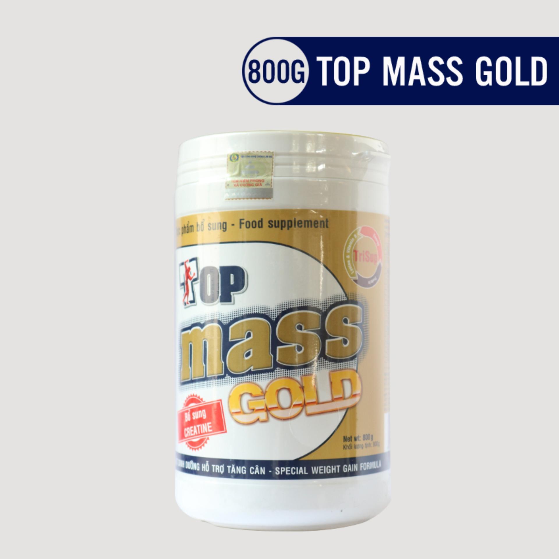 Hình ảnh Sữa tăng cân Top Mass Gold vị vani 800g
