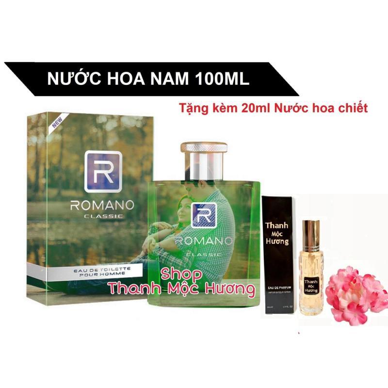 Nước hoa Cao Cấp  Romano Classic 100ml tặng Nước hoa chiết Pháp...ngẫu nhiên mini 20ml cho nam, hương các loại hoa