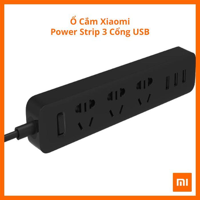 Ổ Cắm Xiaomi 3 Cổng USB (Đen)