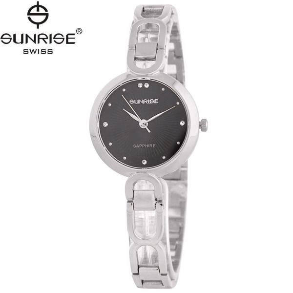 Đồng hồ nữ dây kim loại mặt kính sapphire chống xước Sunrise SL721LS