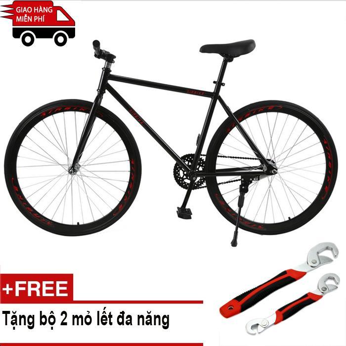 Mua Kachi - Xe đạp Fixed Gear Air Bike MK78 (đen) + Tặng bộ 2 mỏ lết đa năng