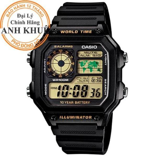 Nơi bán Đồng hồ nam dây nhựa Casio Anh Khuê AE-1200WH-1BVDF