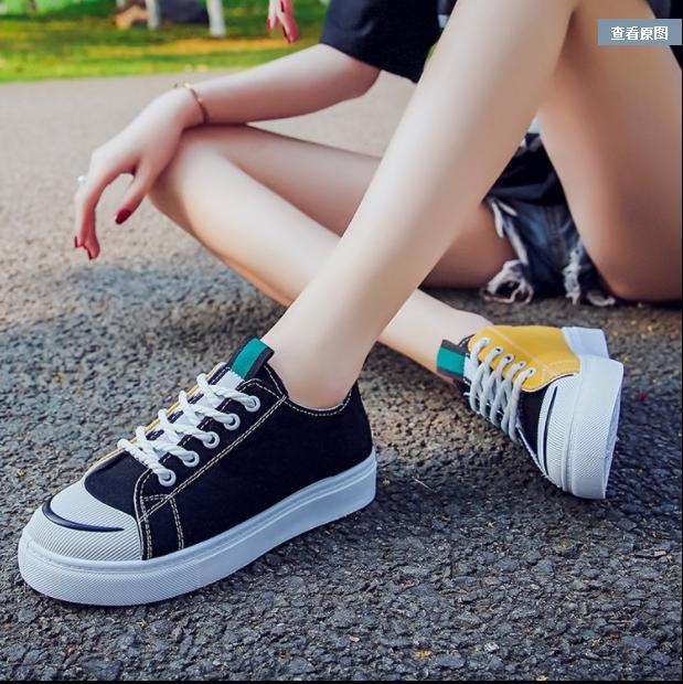 Giầy Sneaker NỮ Thuộc top 10 ulzzang kết hợp 2 mầu 089 BHSHOES99 Nhật Bản