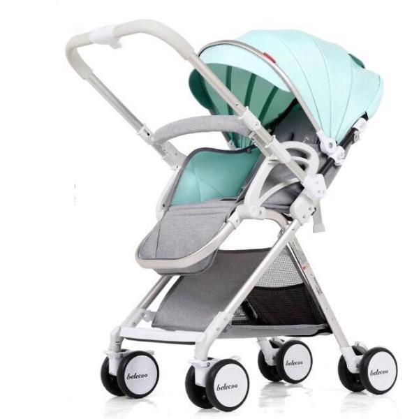 Xe đẩy cao cấp 2 chiều 3 tư thế, gầm cao, có giảm sóc, gấp siêu gọn nhẹ cho bé