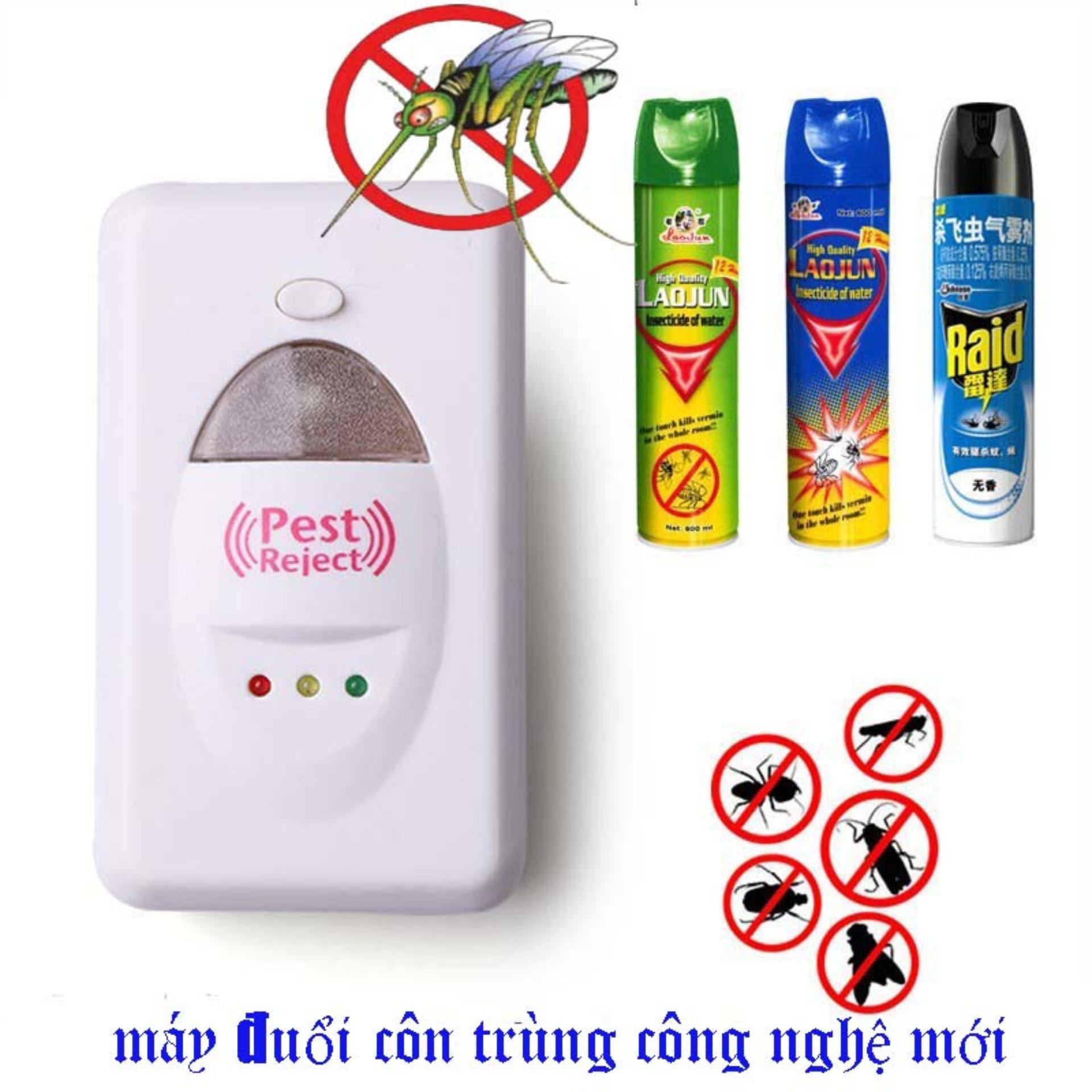 May Duoi muỗi.Máy Đuổi Côn Trùng Pest Reject Công ngệ mới Sử Dụng Sóng Siêu Âm Có Thể Đuổi Muỗi+Gián+Chuột+Ruồi.An Toàn Dễ Sd.Bh 1 Năm 1 Đổi 1.Sale 50% Mẫu 176