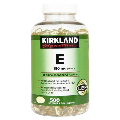 Vitamin E 400 IU Kirkland hộp 500 viên MỸ