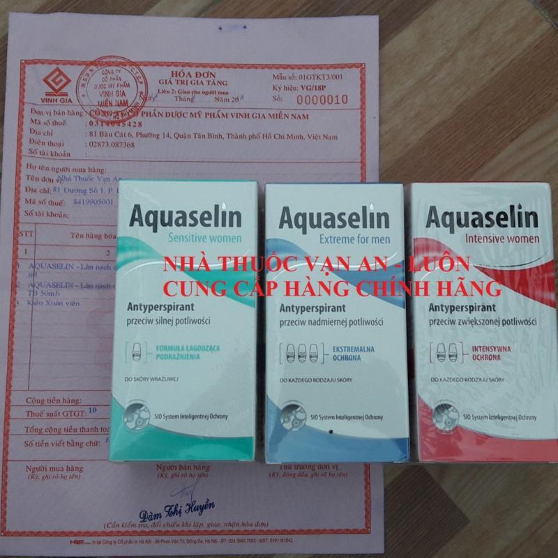 AQUASELIN EXTREME FOR MEN - Lăn nách ngăn tiết mồ hôi và khử mùi dành cho Nam nhập khẩu