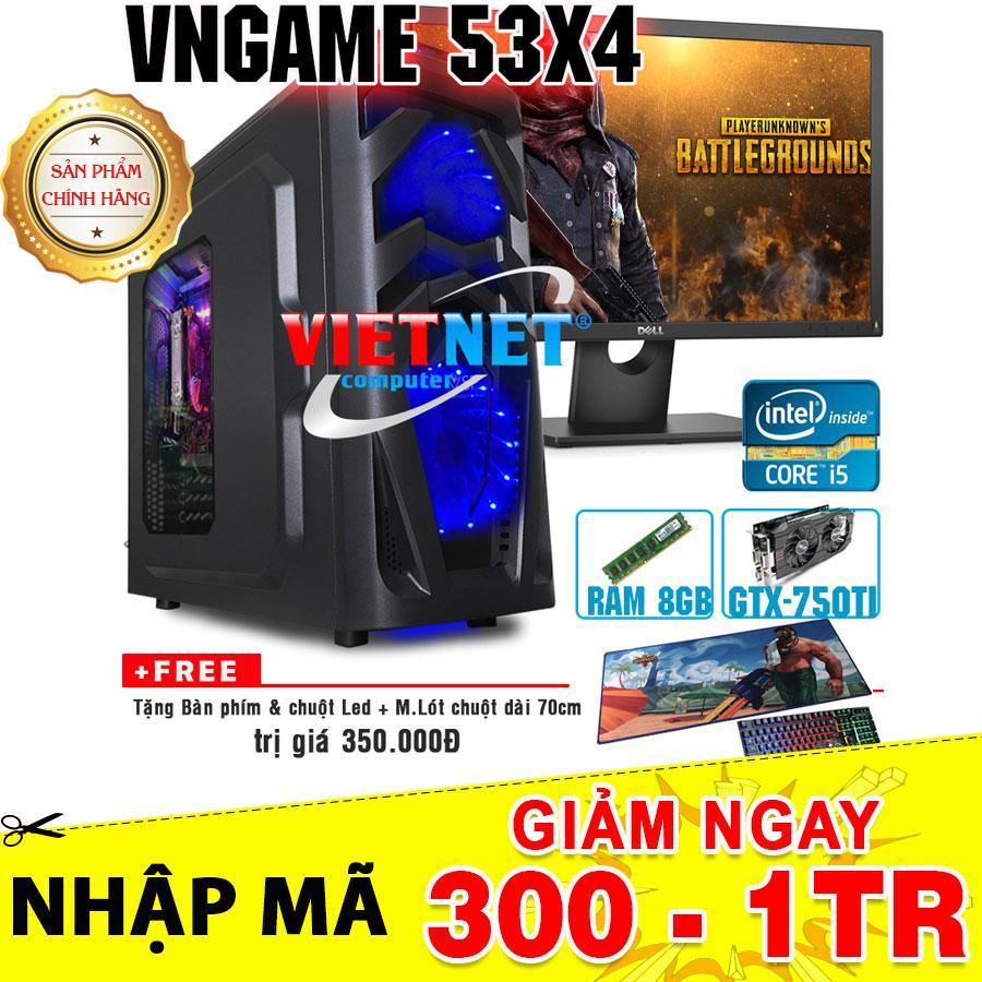Hình ảnh Máy tính chiến game VNgame 53X4 i5 3470 GTX750Ti 8GB 500GB + Dell 22inch