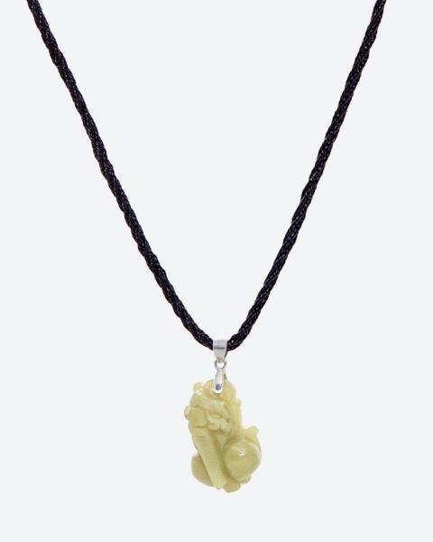 Mặt Dây Chuyền Đá Dạ Minh Châu Tỳ Hưu Mệnh Mộc Hoả (màu xanh) - Ngọc Quý Gemstones
