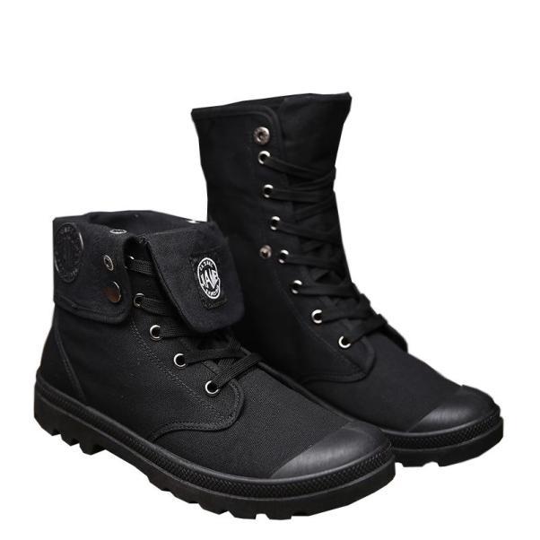 Giày nam cao cổ thời trang chất vải bố và đế cao su cực bền giaynam-A16 (đen) giá rẻ