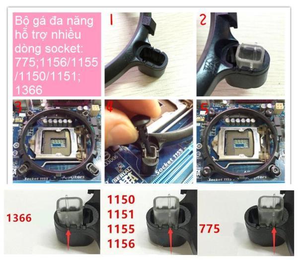 Bảng giá Bộ khung gá lắp để bộ tản nhiệt tương thích đa socket Intel Phong Vũ