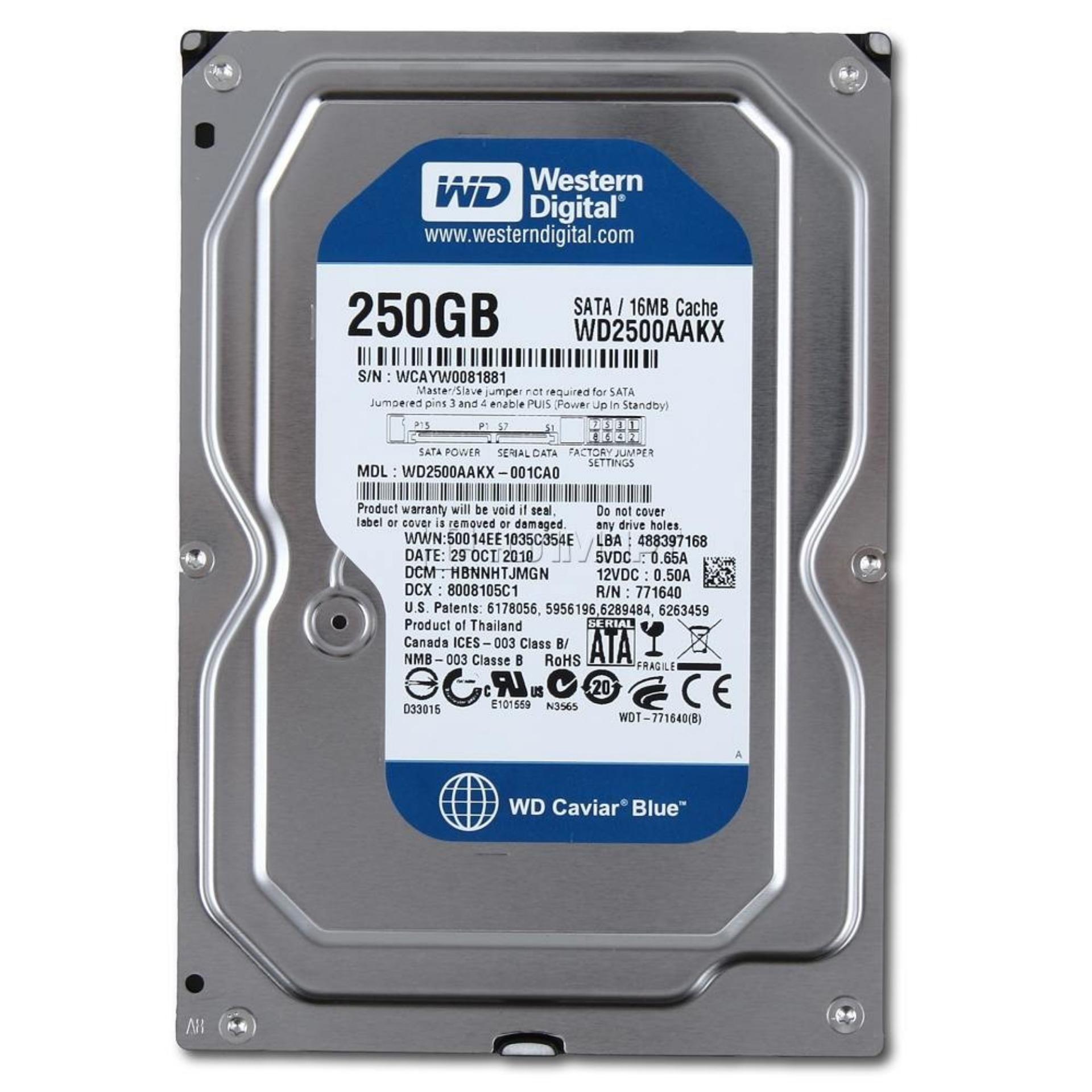 Hình ảnh Ổ cứng gắn trong HDD Western 250GB (Bạc)