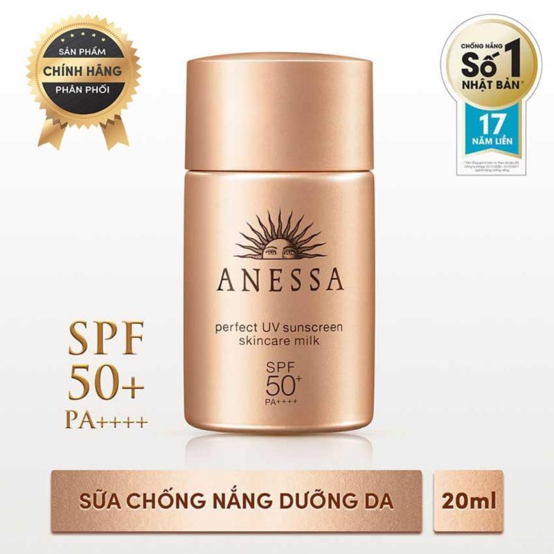 Sữa chống nắng bảo vệ hoàn hảo Anessa Perfect UV Sunscreen Skincare Milk - SPF 50+, PA++++ - 20ml nhập khẩu