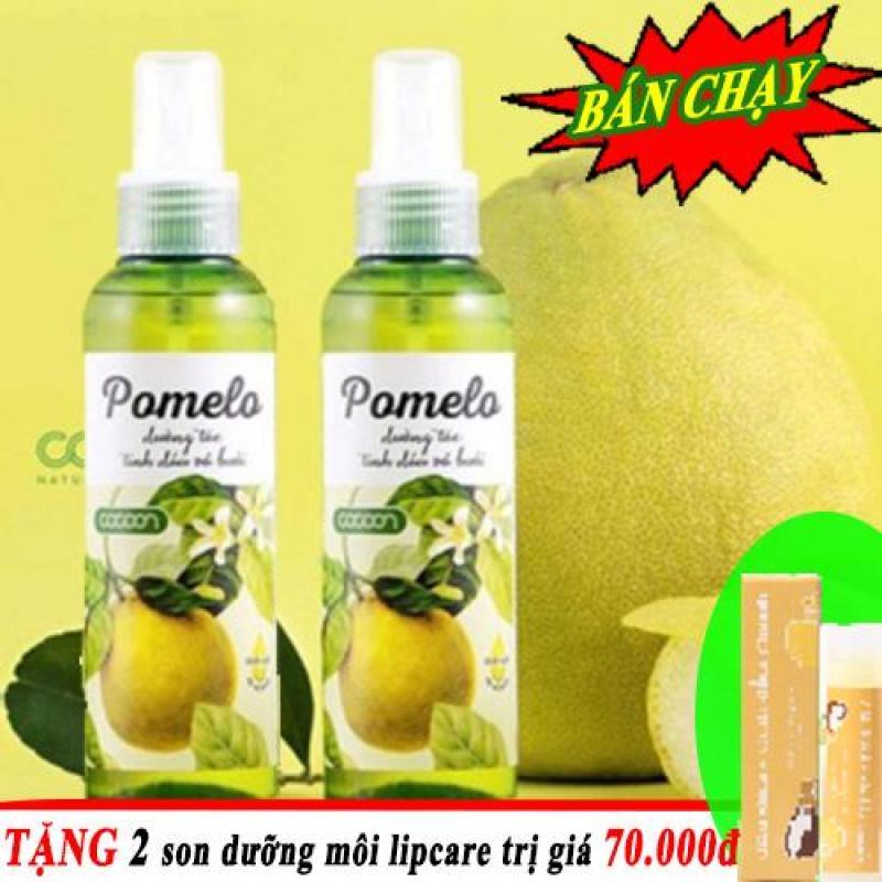 BỘ 2 CHAI Tinh dầu bưởi dưỡng tóc dạng xịt Pomelo 130ml nhập khẩu