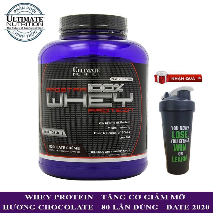 Sữa tăng cơ Prostar 100% Whey Protein của Ultimate Nutrition hương Chocolate hộp 80 lần dùng - Phân phối chính thức