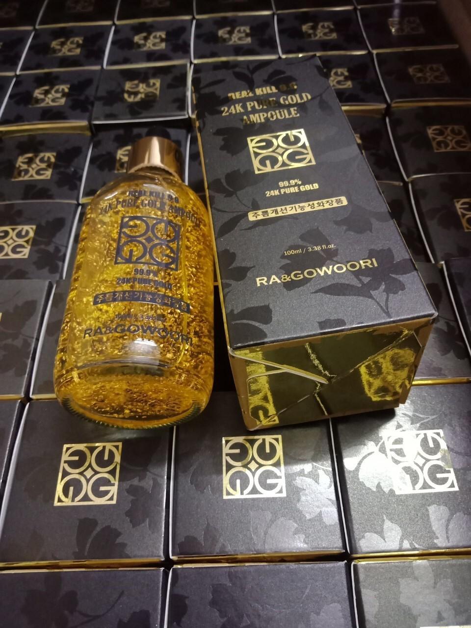 Serum Cao Cấp Tinh Chất Vàng 24k Real Kill 9.9 Ra&Gowoori HÀN QUỐC (100 ml) tốt nhất