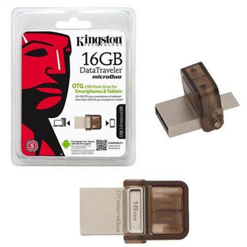 USB Kingston OTG DT MicroDuo for Smartpone & Table USB 2.0 16GB (Nâu)