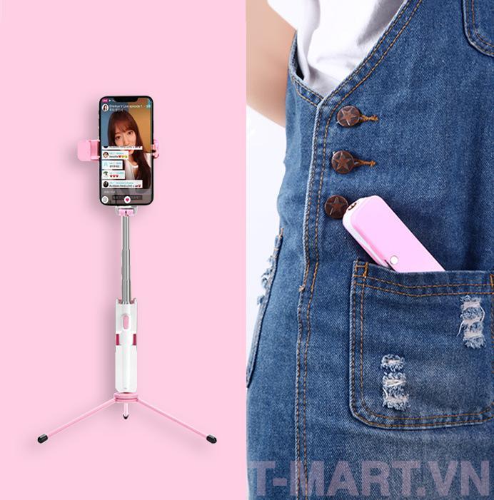 Hình ảnh Gậy selfie chụp ảnh siêu nhỏ - Vừa chụp hình selfie tự sướng vừa làm tripod - Hàng nhập khẩu