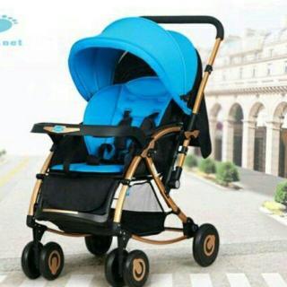 Xe đẩy bập bênh 2 chiều cho trẻ em Baobaohao C3 (Đen phối xanh) thumbnail