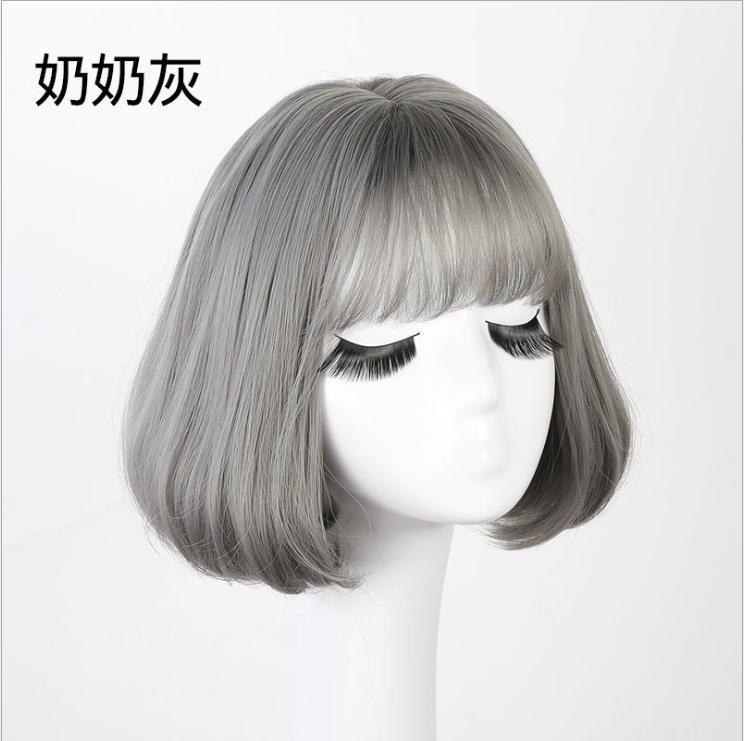 Tóc giả nữ Hàn Quốc cao cấp + tặng kèm Lưới trùm tóc -  TG9170 ( MÀU RÊU KHÓI NHƯ HÌNH )