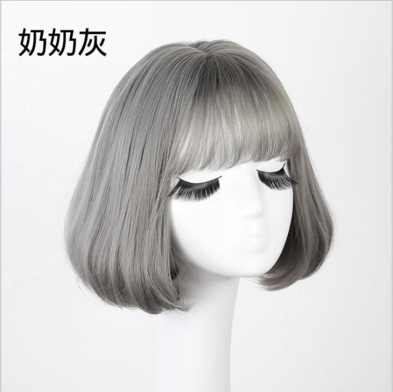 Tóc giả nữ Hàn Quốc cao cấp + tặng kèm Lưới trùm tóc -  TG9170 ( MÀU RÊU KHÓI NHƯ HÌNH ) nhập khẩu