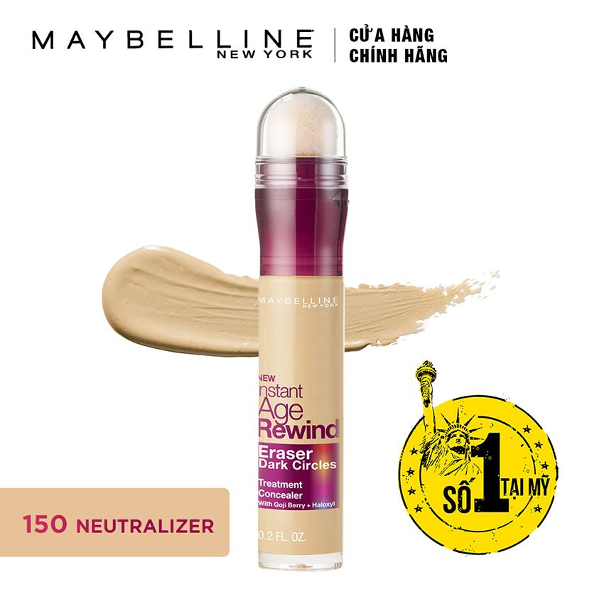 Bút cushion che khuyết điểm, giảm quầng thâm Maybelline Instant Age Rewind Concealer 150 Neutralizer