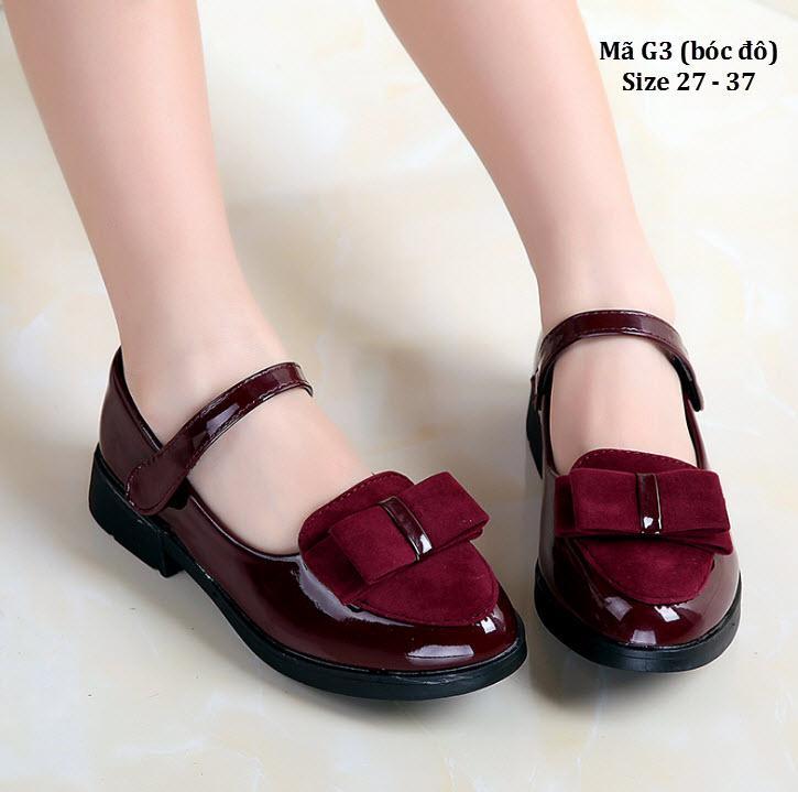 Giá bán Giày bé gái 3 - 12 tuổi phong cách Vintage G3