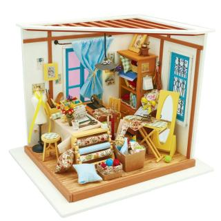[Lấy mã giảm thêm 30%]Mô hình nhà lắp ghép Tiệm may Robotime -Diydollhouse thumbnail