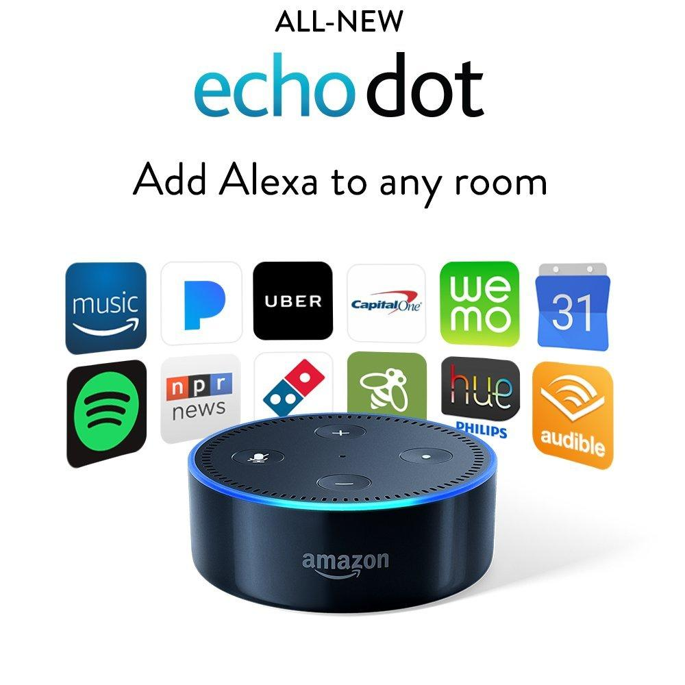 Loa thông minh Echo Dot (2nd Generation) - Smart speaker with Alexa - Black