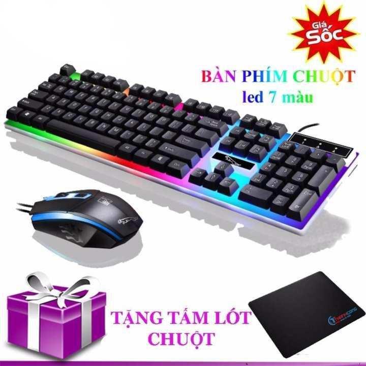 Hình ảnh Bộ bàn phím giả cơ và chuột game dành cho game thủ NTC G21 led đa màu (Đen)