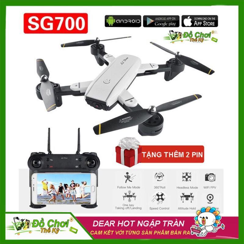 ( BỘ SẢN PHẨM 3 PIN ) Flycam SG700 Thế Hệ Mới Chụp Ảnh Bằng Cử Chỉ, Video HD 720P, Camera 2.0MP, Cảm Biến Di Chuyển Theo Bàn Tay, Truyền Hình Ảnh Trực Tiếp Về Điện Thoại