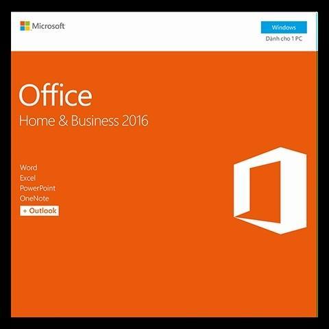 Hình ảnh Phần mềm Microsoft® Office Home and Business 2016 - Pupam phân phối chính hãng