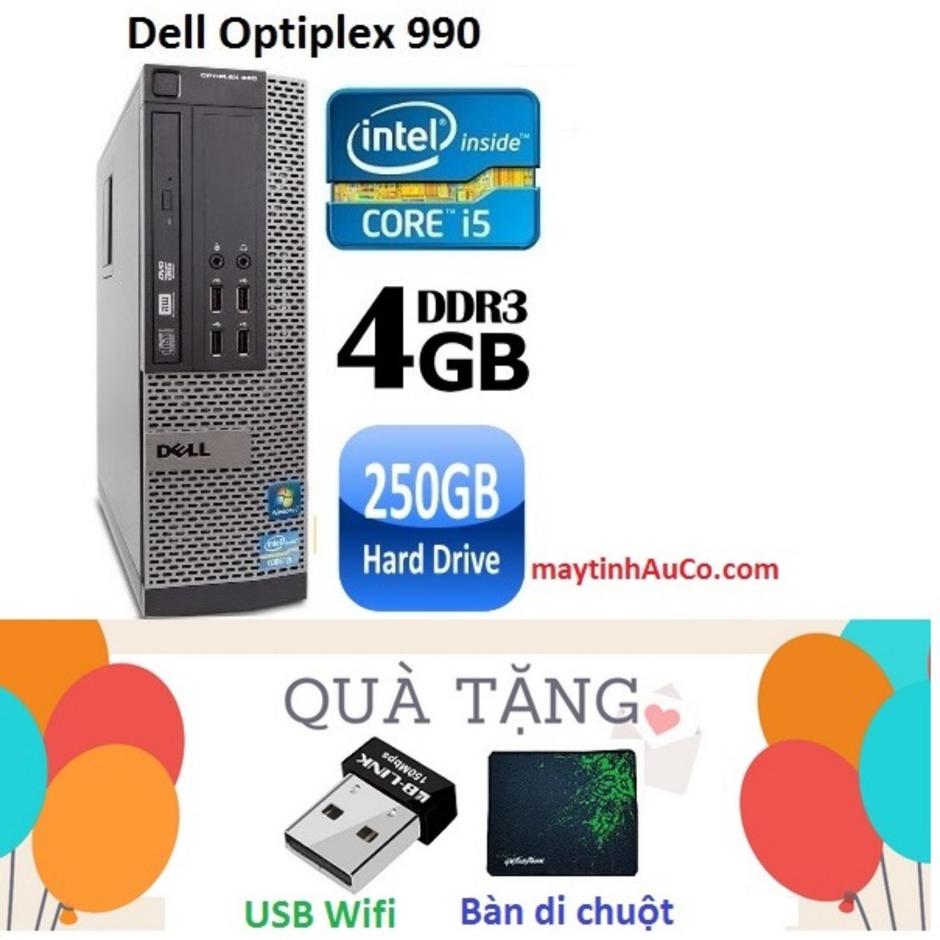Đồng Bộ Dell Optiplex 990 Core i5 2400 / 4G / 250G,  Tặng USB Wifi , Bàn di chuột  , Bảo hành 24 tháng