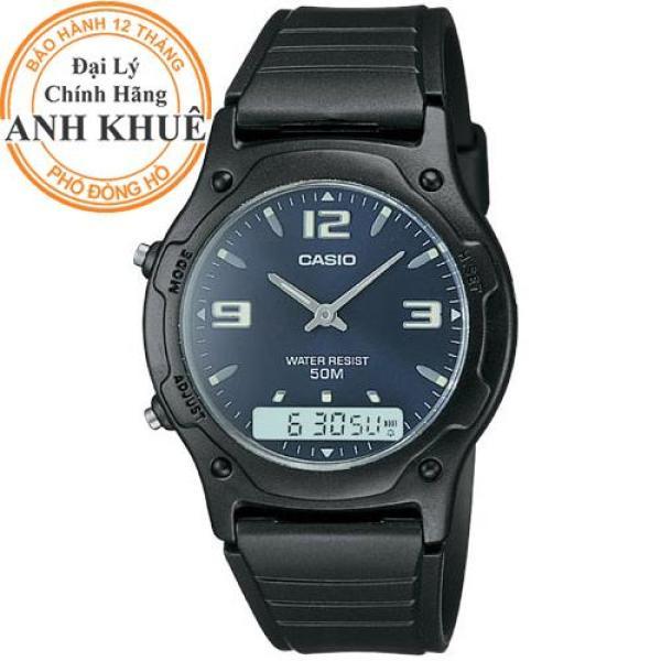 Nơi bán Đồng hồ dây nhựa Casio Anh Khuê AW-49HE-2AVDF (mặt xanh)