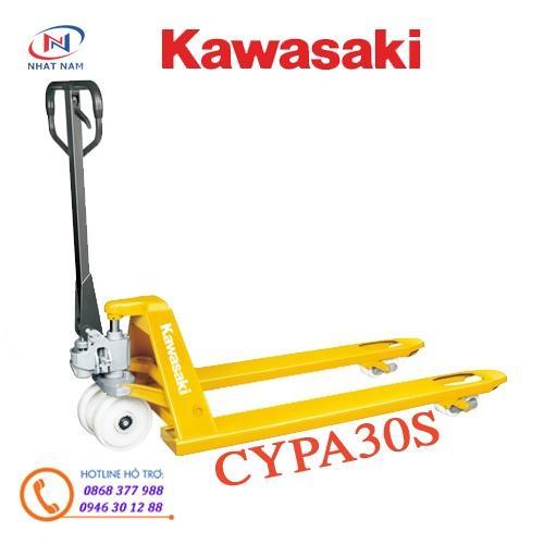 Xe nâng tay Kawasaki - Nhật Bản model CYPA30S càng hẹp