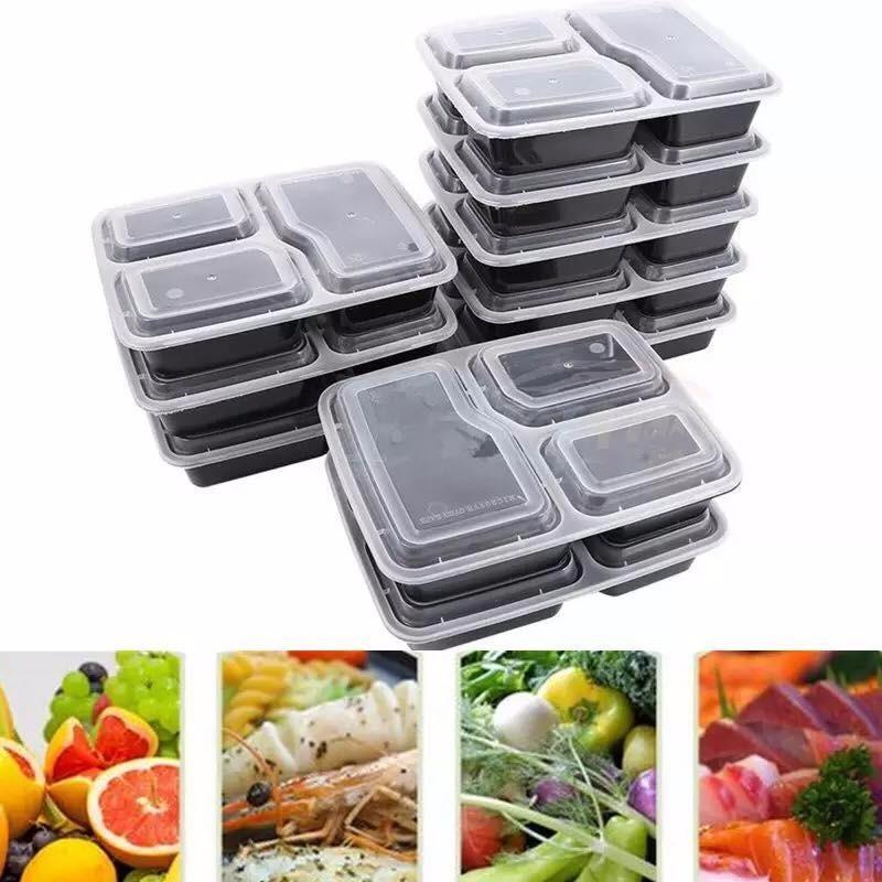 Hình ảnh hộp đựng thức ăn nhựa cao cấp 3 ngăn