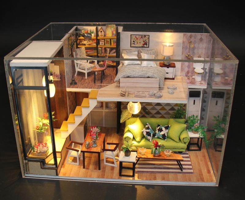 Hình ảnh Bộ mô hình lắp ghép DIY - Biệt Thự (Kèm Mica + Keo)