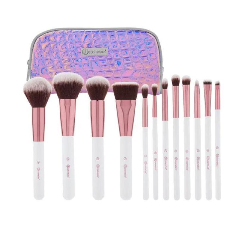 Bộ Cọ Trang Điểm 12 Cây Bh Cosmetics Crystal Quartz 12 Piece Brush Set With Cosmetic Case