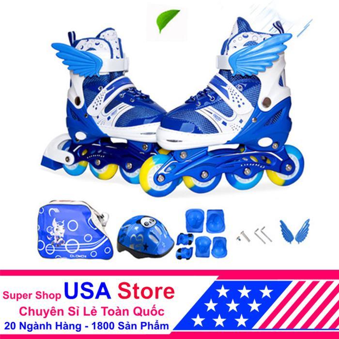 Giày Trượt Patin F1 Cánh Thiên Thần Đủ Bộ Xanh Size M (35-38)  ACN1040 -01 NEWT5218